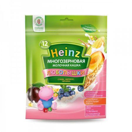 Каша молочная Heinz Любопышки многозерновая слива/абрикос/черника (с 12 мес.) 200 г