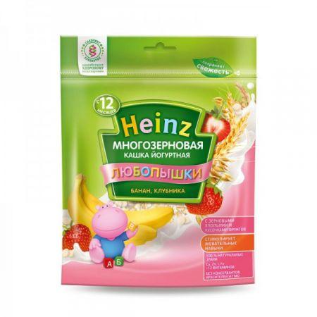 Каша молочная Heinz Любопышки многозерновая фруктово-йогуртная банан/клубника (c 12 мес.) 200 г