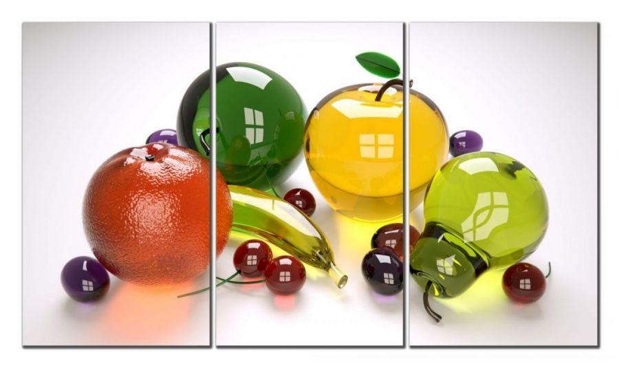 Модульная картина Стеклянные фрукты