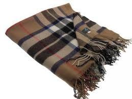 Легкий шотландский плед, 100 % стопроцентная шотландская овечья шерсть, расцветка клана Томсон (кэмэл).