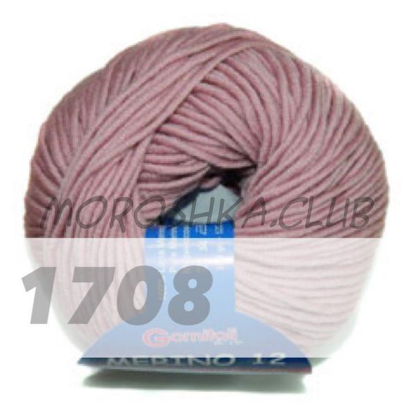 Пыльная роза Merino 12 (50 гр моточек) BBB (цвет 1708)