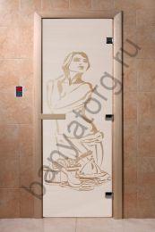 Дверь для бани DoorWood Искушение Сатин
