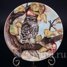 Три декоративные тарелки Мудрые совы, Coalport, Англия, 1990 г