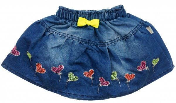 Юбка для девочки Цветные сердечки