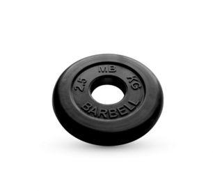 Диск обрезиненный черного цвета MB Barbell 2,5 кг