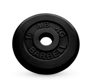 Диск обрезиненный черного цвета MB Barbell 10 кг
