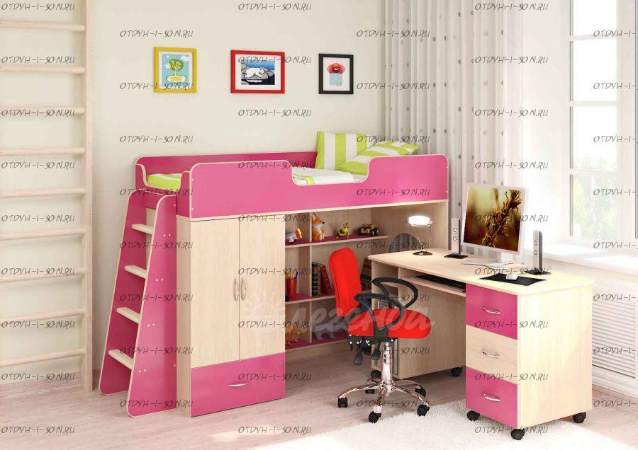 Кровать-чердак Легенда-3.5 со столом