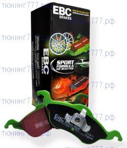 Колодки тормозные, EBC, серия Green Stuff, задний к-кт