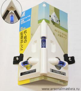 Уровень пузырьковый спиртовой угловой Shinwa 3 колбы белый пластик с магнитами М00007800
