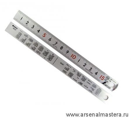 Линейка стальная матовая Shinwa PickUp 100 см (шкала - в см) М00010164