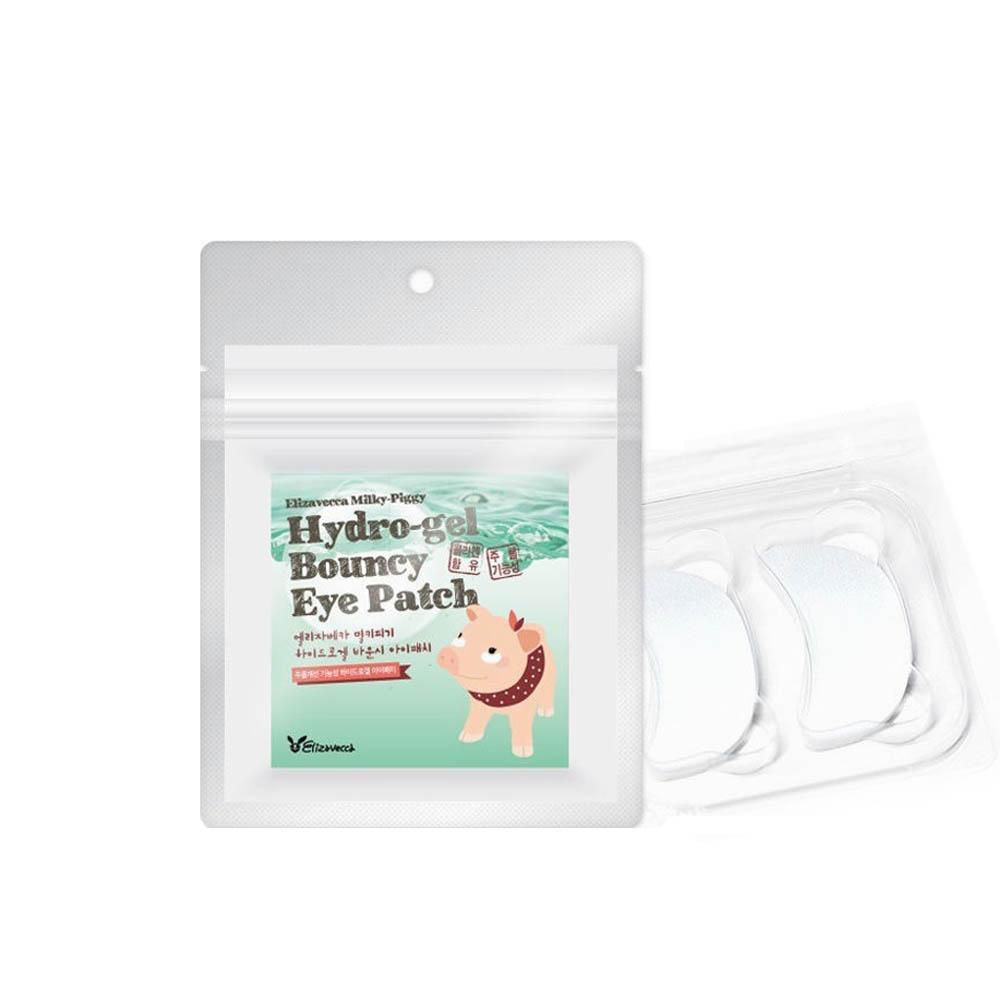 Elizavecca Milky Piggy Набор патчей для глаз с жемчугом и гиалуроновой кислотой Hydro-gel Bouncy Eye Patch