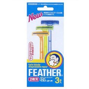"""""""Feather"""" """"Best Ace"""" Одноразовый бритвенный станок с двойным лезвием (3 штуки), 1/288"""