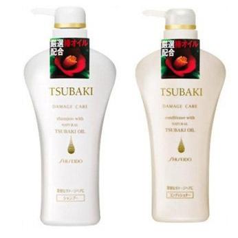 SHISEIDO TSUBAKI Damage Care Набор для поврежденных волос с маслом камелии Шампунь 500 мл + Кондиционер 500 мл