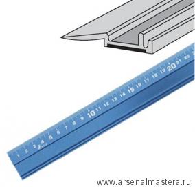 Линейка нескользящая алюминиевая Shinwa 30 см синяя М00009175