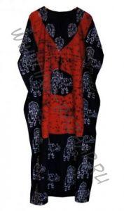 Длинное индийское безразмерное платье на кулиске (СПб)