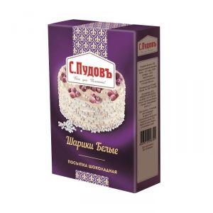 ПУДОВ посыпка шоколадные шарики белые 90 г