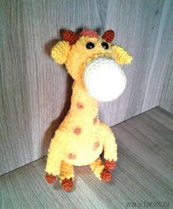 """Вязаная игрушка ручной работы """"Жираф"""""""