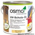 Защитное масло с УФ-фильтром Экстра Osmo UV-Schutz-Ol Extra бесцветное шелковисто-матовое арт. 420 25 л