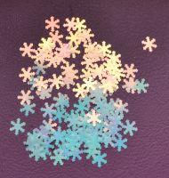 Снежинки для дизайна ногтей #6 (бело-голубые крупные)