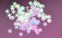 Снежинки для дизайна ногтей #4 (бело-розовые крупные)