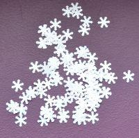 Снежинки для дизайна ногтей #3 (белые крупные)