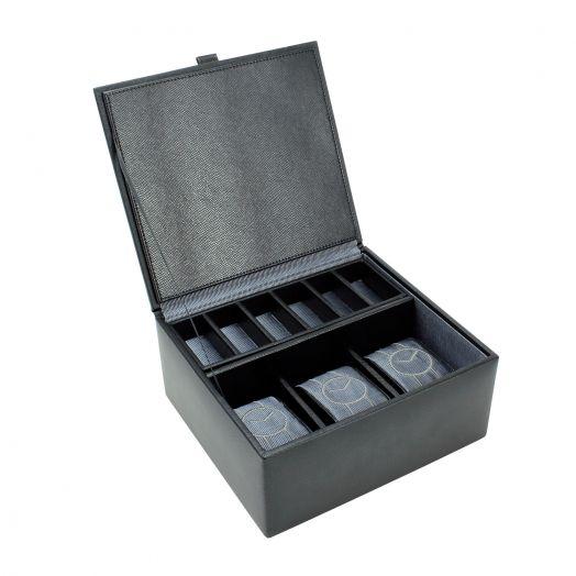 Шкатулка для хранения трех часов и аксессуаров LC Designs Dulwich - Eclipse 70912