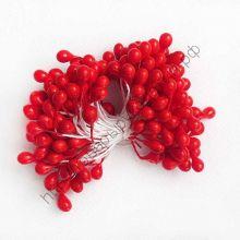 тычинки жемчужные крупные  красные