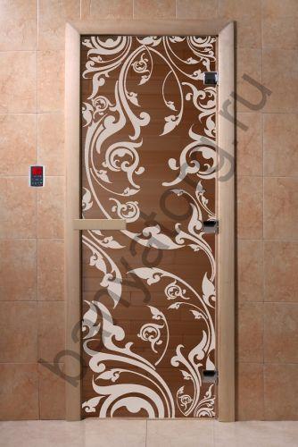 Дверь для бани DoorWood Венеция Бронза