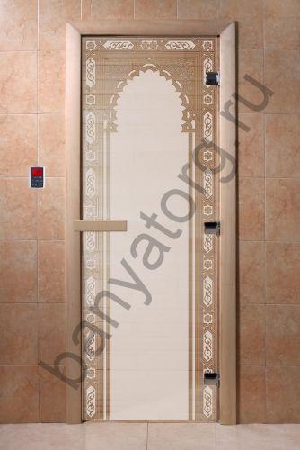 Дверь для бани DoorWood Восточная Арка Сатин