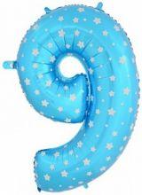 """Фигура """"9""""  (102 см), голубой"""
