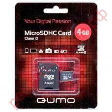 Карта памяти QUMO MicroSD 4 Гб