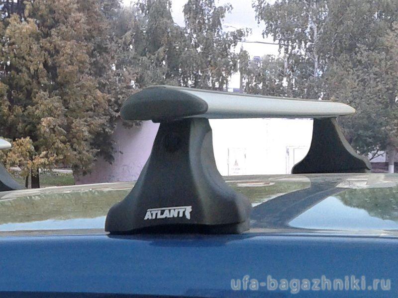Багажник на крышу Renault Logan, Атлант, крыловидные аэродуги
