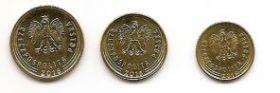 Набор регулярных монет Польша 2016