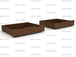 Ящики подкроватные к Тахта 2 Массив DreamLine (массив/фасад с 2-х сторон)