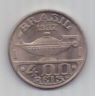 400 рейс 1937 г. UNC. Бразилия