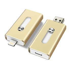 Флешка 32 Гб для iPhone, iPad (Lightning) и компьютера (USB)