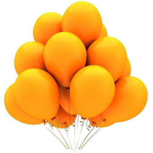 Гелиевый шар оранжевый