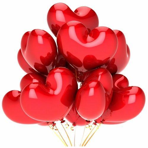 Гелиевый шар красное сердце