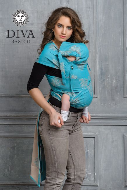 Diva Basico Laguna май-слинг с капюшоном