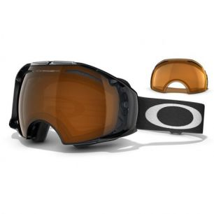Oakley Airbrake Snow Jet Black/Black Iridium + Persimmon