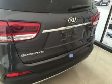Накладка на крышку багажника, хром с логотипом