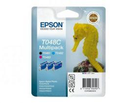 Набор оригинальных картриджей EPSON T048C для R200/R300/RX500/RX600 (C, M, Bk)