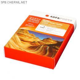 Фотобумага Agfa - 10х15 глянцевая, плотность 210 г/кв.м, 100 листов