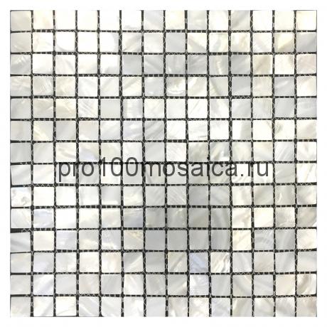 Moon Shell перламутр. 20x20. Мозаика серия SHELL, 300*300*2.5 мм (ORRO Mosaic)