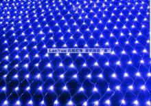 Гирлянда сетка на окно влагостойкая 3 х 2 метра синяя
