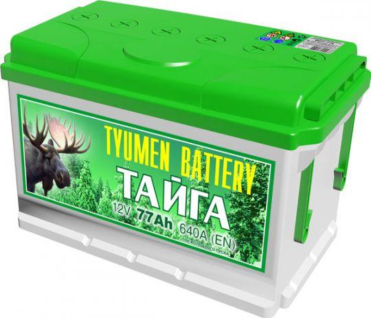 Автомобильный аккумулятор АКБ Тюмень (TYUMEN BATTERY) ТАЙГА 6СТ-77L 77Aч П.П.