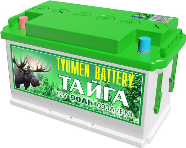 Автомобильный аккумулятор АКБ Тюмень (TYUMEN BATTERY) ТАЙГА 6СТ-90L 90Aч П.П.