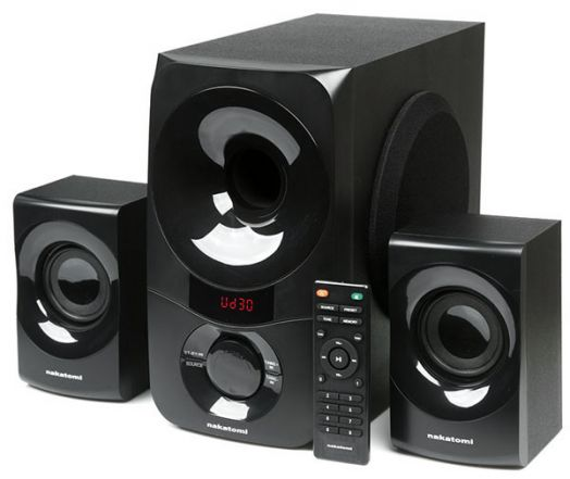 Мультимедийные колонки 2.1 Dialog Nakatomi GS-35 BLACK - акустические колонки 2.1, 35W+2*15W RMS, Bluetooth, USB+SD reader