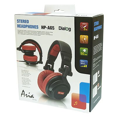 Мониторные наушники Dialog HP-A65 BLACK-RED (3 метра)