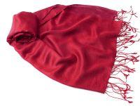 купить в Москве малиновый палантин из шелка и шерсти